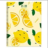 """TF PUBLISHING - July 2021 - June 2022 Make Lemonade Large Daily Weekly Monthly Planner & Coordinating Planning Stickers - 12 Month Academic Year Planner - Faux Monthly Tabs - 9"""" x 11"""""""