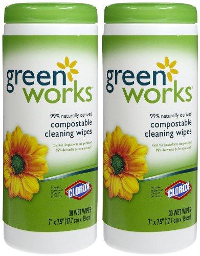 Clorox Company 30311 30 Count Greenworks Wipes