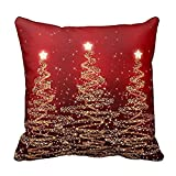 ronamick Merry Christmas Pillow Cases Cotton Linen sofá Cushion Cover Home Decor, b, 45cm*45cm
