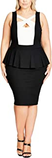 Womens Plus Cut-Out Peplum Cocktail Dress