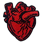 X-Ray Anatomical Heart Embroidered Iron On Sew On Patch