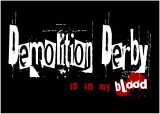 Teeburon Demolition Derby is in My Blood Sticker Pack x4 6