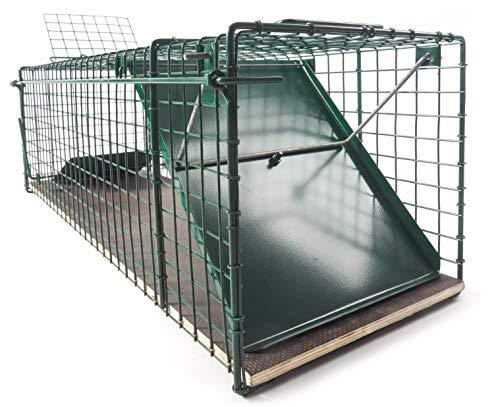 123jagd große 116x26x28cm Marderfalle Waschbärfalle Katzenfalle Kaninchenfalle Lebendfalle Tierfalle Lebend-Falle Tier-Falle Falle