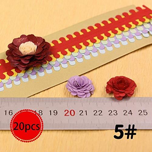 20 flores origami cinta colorida origami DIY papel hecho a mano artesanía DIY scrapbook decoración hecha a mano