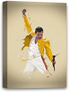 Funny Ugly Christmas Sweater Freddie Mercury Illustration Freddie Mercury Canvas Prints Queen Colorful Painting Ready to Hang Picture Iconic Rock Star Glam Rock Singer 8