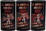 All American BBQ Rub - Set - Pork, Beef, Ribs (3 x 350g)
