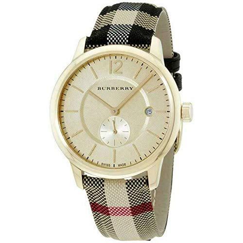 Burberry Swiss Honey Check Fabric Strap Watch 40mm BU10001