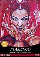 Flamenco (Wandkalender 2022 DIN A4 hoch): Sinnlich - Stolz - Leidenschaftlich (Monatskalender, 14 Seiten )