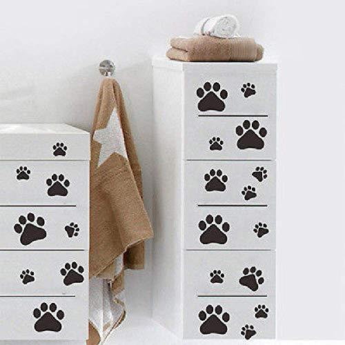LKNS muurstickers hete verkoop 22 stuks hond kat pootafdrukken muurstickers voor autoramen truck Suv bumperdeur van fiets laptop kayak vinyl stickers set