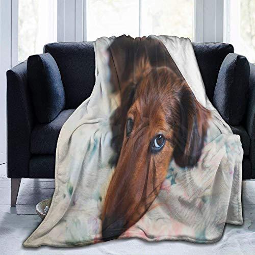 Manta de felpa aterciopelada de lujo de microterciopelo ultrasuave, pequeña color rojo y de pelo largo para cualquier estación, antiestática para sofá cama de 127 x 101 cm