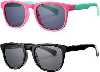 Kids Sunglasses for Girls Boys Age 3-10, Polarized TPEE Rubber Flexible Sun Glasses 100% UV Protection