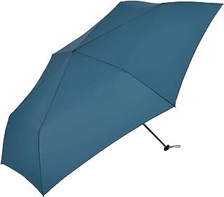 Nifty Colors(ニフティカラーズ) 折りたたみ傘 インディゴ 60cm カーボン軽量ミニ60 6本骨 収納袋つき 5075ID
