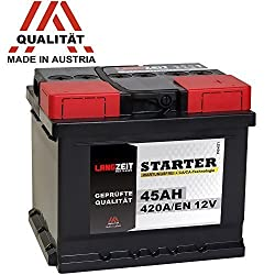 LONG TERM car battery 12V 45Ah replaces 36AH 40AH 41AH 43AH 44AH 46AH 48AH 50AH