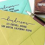 Printtoo - Sello de goma para invitaciones de boda, personalizable, color marrón 2.5 x 1.2 Inches (Approx)