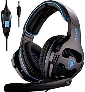 Sades SA810 Version Xbox One Gaming Headset with Microphone and PC Adapter Over Ear Stereo Headphones for PS4/PlayStation ...