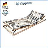 RAVENSBERGER MEDIMED 44-Leisten 7-Zonen-BUCHE-Lattenrahmen | Verstellbar | Made IN Germany - 10 Jahre GARANTIE | TÜV/GS + Blauer Engel - Zertifiziert | 100 x 200 cm