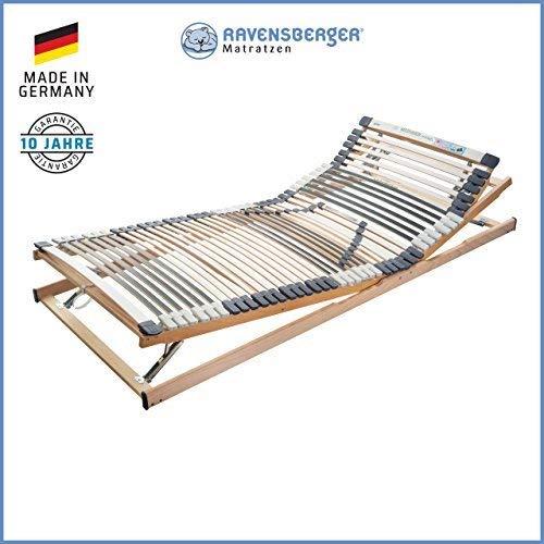 RAVENSBERGER MEDIMED® 44-Leisten 7-Zonen-BUCHE-Lattenrahmen | Verstellbar | Made IN Germany - 10 Jahre GARANTIE | TÜV/GS + Blauer Engel - Zertifiziert | 140 x 200 cm