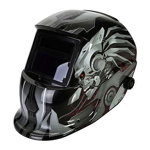 LESOLEIL Careta Soldar Automatica- Máscara de Soldadura con Oscurecimiento Automático para Soldar con 2 Lentes con 2 Sensores ARC TIG Mig Molienda