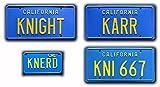 Knight Rider   KARR + KNI 667 + KNERD   Metal Stamped License Plates