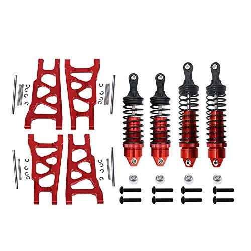1 Set Front&Rear Aluminum Shock Absorber&Suspension A Arms 5862 3655 for RC Traxxas 1/10 Slash Rustler Stampede 4x4 4WD