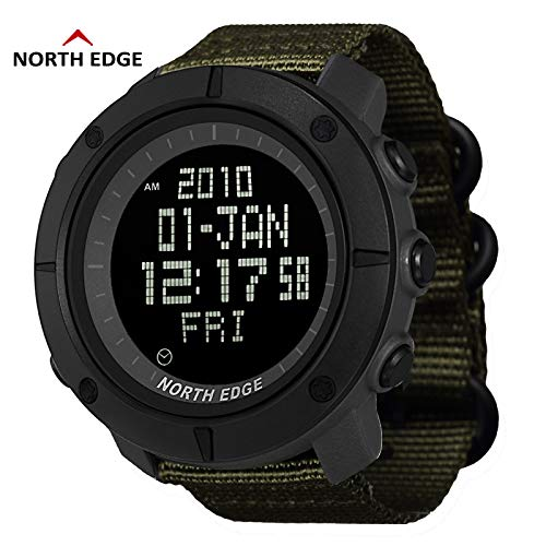 Best Buy! NORTH EDGE Men's Sports Digital Watch Army LED Back Light Display Water Resistant 50m Stop...