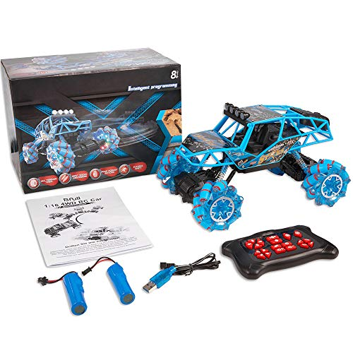 RC Auto kaufen Monstertruck Bild 2: Bfull 4WD RC Car, 1/16 Drift Master Music Buggy 2.4 GHz Remote Control High Speed Racing Vehicle All Terrain Monster Truck for On & Off Road Games, 2 Rechargeable Batteries*