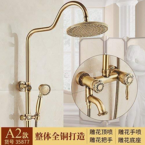 Antieke douchekit voor douchecabines massief koper douchegordijnen water mengklep voor Lin Sprinkler Sprinkler, 3rd Gear A2-35877 A2-35877 Apple Third Gear