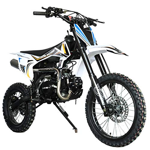 X-PRO Hawk 125cc Dirt Bike with 4-Speed Manual Transmission, Big 17″/14″ Tires! Zongshen Brand Engine! (Black)