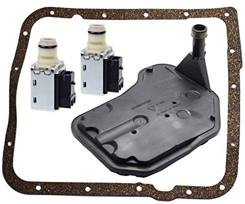 TOPEMAI 4L60E Shift Solenoid and 4L60E Transmission Filter Gasket kit Compatible with Cadillac Buick Blazer Astro Replace 24230298 24208576