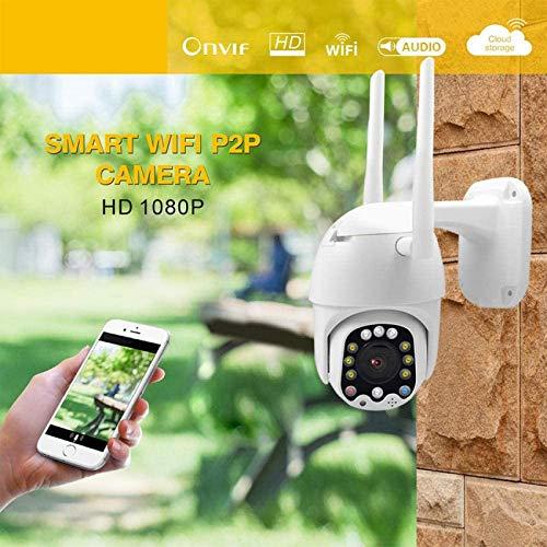 LJYY Sicherheitsüberwachung IP-Kamera 1080P WiFi kabelloser PTZ-Hochgeschwindigkeitsball für den Außenbereich mit intelligenter Zwei-Wege-Intercom-Funktion zur Erkennung von Nachtsichtbewegungen