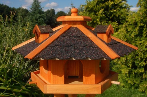 Deko-Shop-Hannusch Nichoir à oiseaux avec bardeaux bitumés