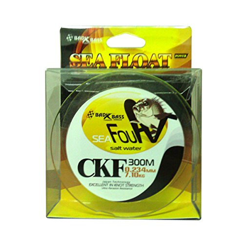 BAD BASS Lenza SURFCASTING CKF 300mt 0.261mm 8,590 kg Colore Yellow
