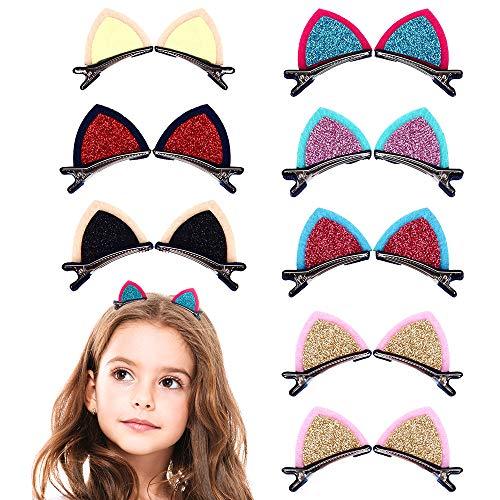 Dreamlover Animal Hair Clips, Cat Ear Hair Clip, Hair Barrette for Girls and Kids, 16 Pack