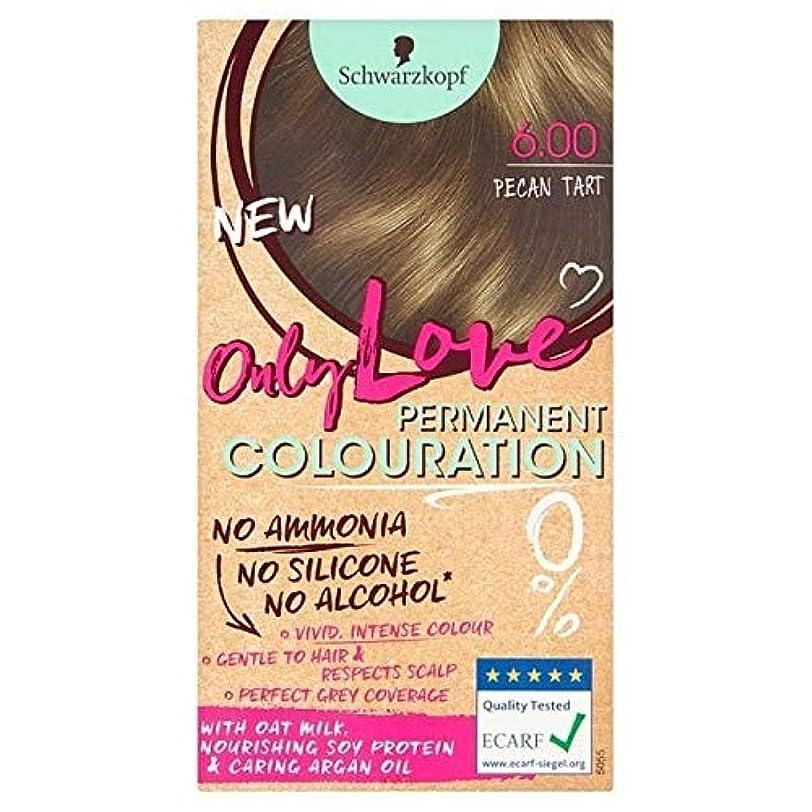 メガロポリスインシデントシーサイド[Only Love ] 唯一の永久染毛剤600ピーカンタルトが大好き - Only Love Permanent Hair Dye 600 Pecan Tart [並行輸入品]