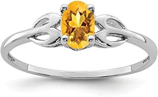 925 Sterling Silver Yellow Citrine Band Ring Birthstone November Gemstone Set Fine Jewelry For Women Gift Set