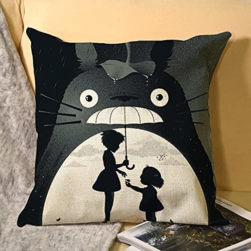 Best-design My Neighbor Totoro - Fundas de almohada estándar con cremallera para ama de casa (45 x 45 cm)