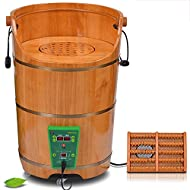 ZR- Fumigation Barrel Foot Bath Barrel Deep Bucket Oak Foot Tub Heating Constant Temperature Steaming Bucket Household Gynecological Fumigation Steamed Head
