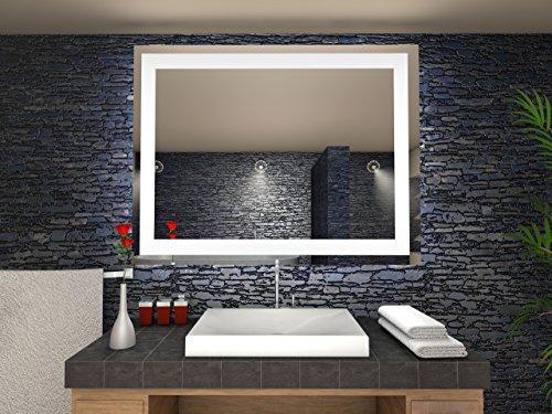 Toulon Badspiegel mit LED Beleuchtung - B: 140 cm x H: 70 cm