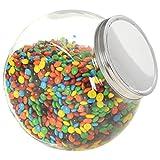 vidaXL 6 tarros de cristal para caramelos, tarros para conservas, especias, caramelos, 10,5 x 12 x 17 cm, 2200 ml