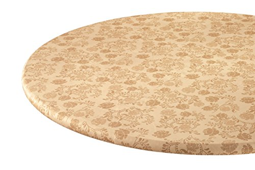 Fox Valley Traders The Kathleen Vinyl Elasticized Table Cover by HSKTM 42' x 68' Oblong