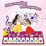 Dookey Piano Matte Tanzmatten Klaviermatte Musikmatte Kinder 8 Tierstimmen Klaviertastatur Spielzeug Musik Matte, Keyboard Matten Spielteppich Baby Tanzmatte für Jungen Mädchen Kinder 100*36 cm