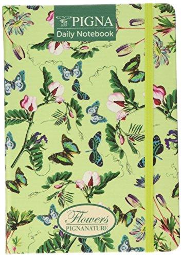 Pigna 022791900 Agenda con Elastico, Carta Riciclata, 100 Fogli, 14.8 x 21 cm,