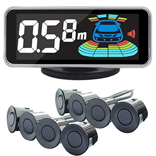 Class-Z Auto Rückfahrwarner Einparkhilfe 8 Sensoren Einparkassistent Einparksystem PDC + LED Anzeigen + Akustische Warnung,Auto Parken Sensor System Radar Kit