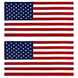 Kaufman 2PK - American Flag 30 inch x 60 inch Beach and Pool...