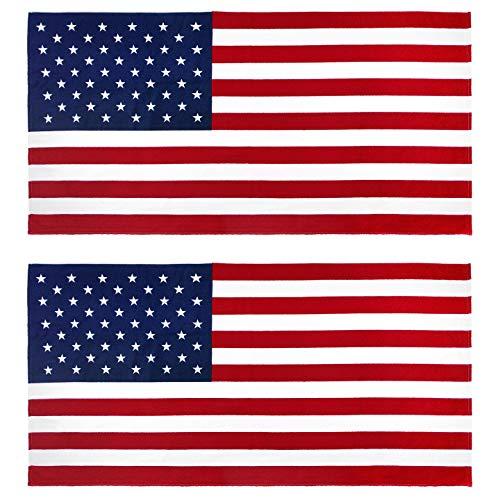 KAUFMAN–la bandera americana 30en X 60en toalla de playa (101210)