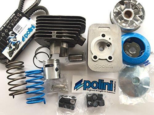 Polini - Komplett-Kit für Piaggio Ciao-Motoren bestehend aus Thermo-Baugruppe SP. 10 D. 43, Zylinderkopf, Drehzahlregler, 1 Paar Kontrastfedern und Reglerriemen