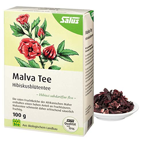 Salus Bio Malva Hibiskusblüten Tee, 100g loser Tee