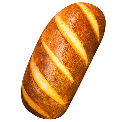 Givvet 3D Simulation Bread Shape Pillow Soft Lumbar Back Cushion Funny Food Plush Stuffed Toy for...