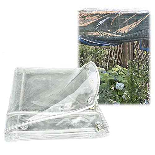 Lona Impermeables para Exteriores De 650 G/M², Toldo Impermeable Transparente para Exteriores De 0,55 Mm, Cubierta Hidratante De PVC Plegable, Que Incluye Cuerdas Y Ojales (Size : 1.27x0.7m)