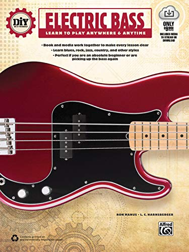 DIY (Do It Yourself) Electric Bass: Learn to Play Anywhere & Anytime, Book & Online Video/Audio